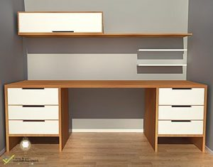 meja kerja minimalis satu biro model terbaru