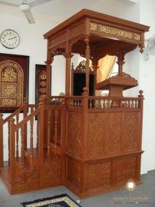 mimbar masjid modern kayu jati jepara