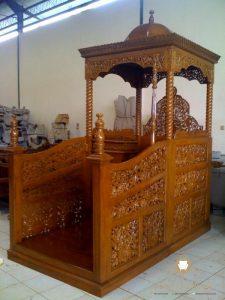 mimbar masjid ukiran terbaru kayu jati jepara
