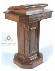 mimbar podium minimalis klasik kayu jati
