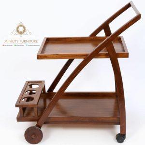 nampan roda model lengkung teak wood