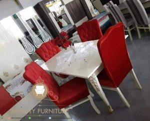 set meja makan kursi 4 duco putih