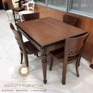 set meja makan kursi 4 jepara