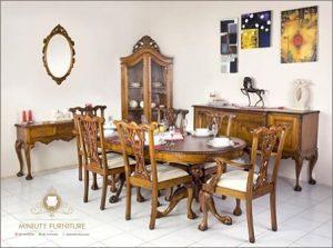 set ruang meja makan klasik terbaru