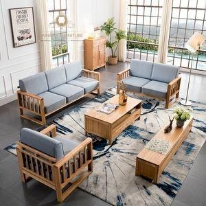 set sofa tamu minimalis kayu jati terbaru