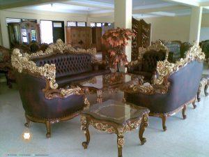 set sofa tamu ukir mewah modern kayu jati jepara