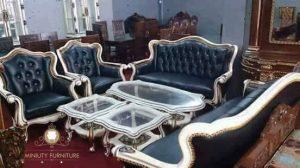 sofa ruang tamu louis model terbaru