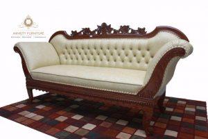 sofa santai panjang ukir modern terbaru