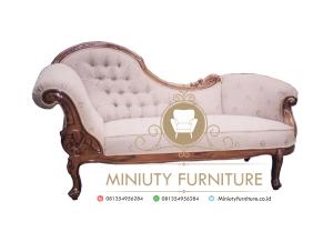 sofa santai ukir simple kayu jati terbaru