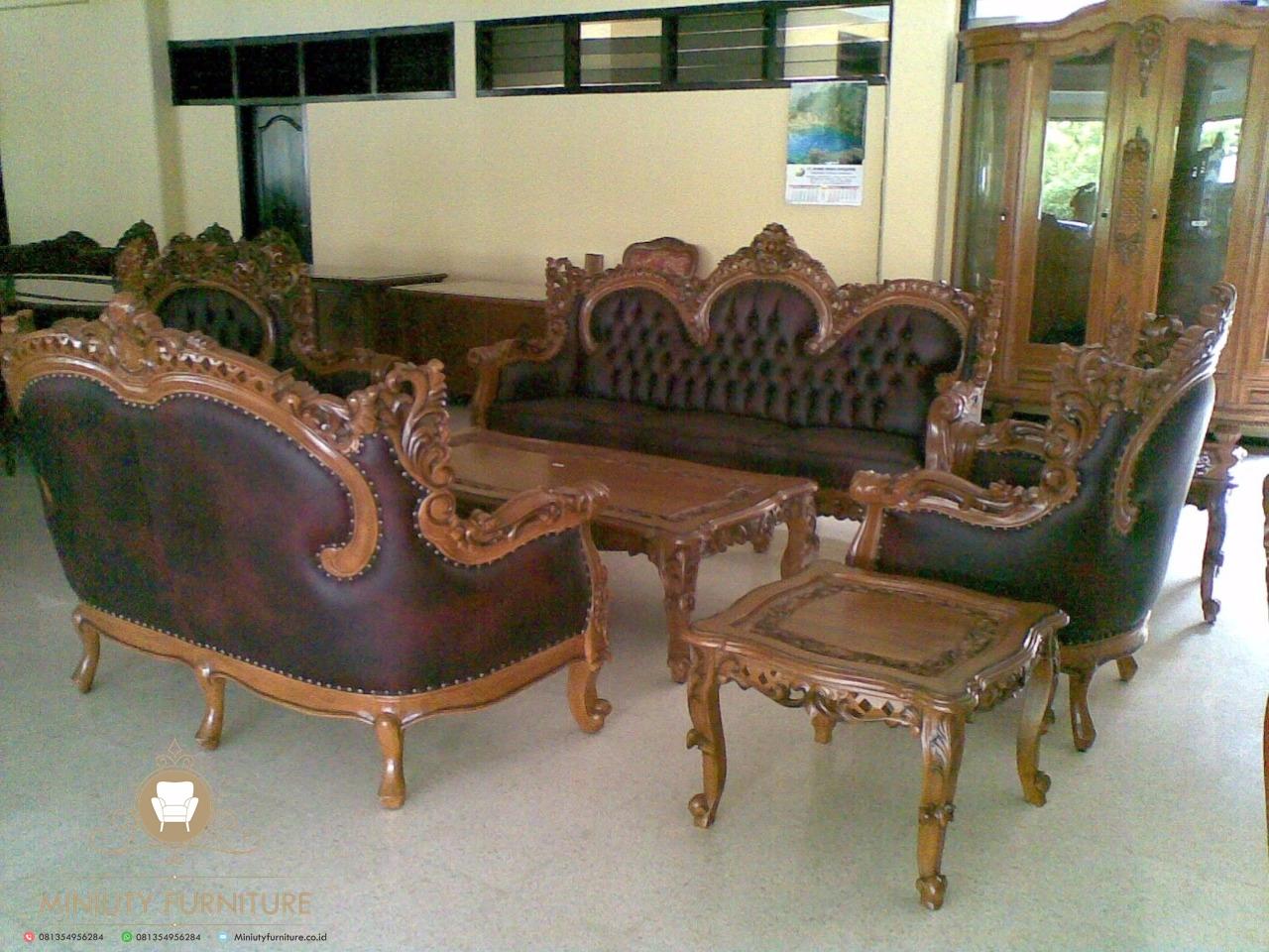 sofa tamu ukir elegant model terbaru   MINIUTY FURNITURE