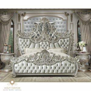 tempat tidur mewah ukir raja modern jepara