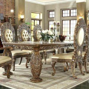 meja makan mewah ukir klasik modern