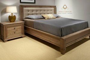 ranjang minimalis kayu jati modern jepara