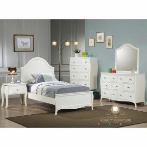 set kamar anak modern duco putih