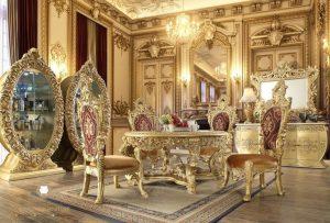 set ruang makan ukir luxury eropan style