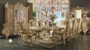 set ruang makan ukir mewah modern
