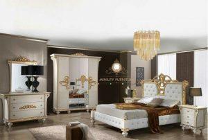 kamar set mewah modern duco putih