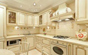 kitchen set kayu duco putih mewah klasik