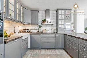 kitchen set kayu model klasik duco