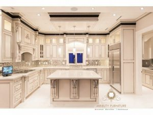 kitchen set klasik elegant duco putih