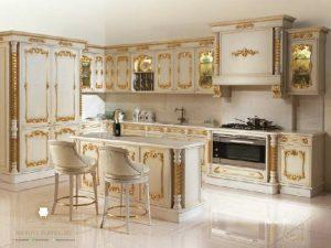 kitchen set mewah modern duco putih jepara