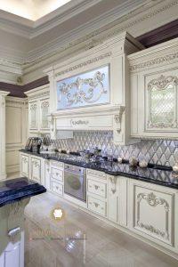kitchen set ukir duco putih mewah modern