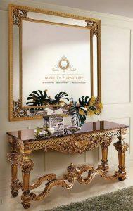 meja konsul cermin hias klasik modern