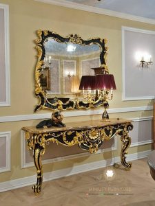 meja konsul ukir mewah klasik modern