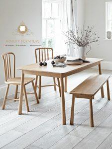 meja makan minimalis model retro