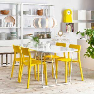 meja makan minimalis modern duco