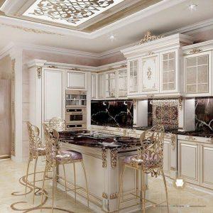 model kitchen set klasik modern duco putih