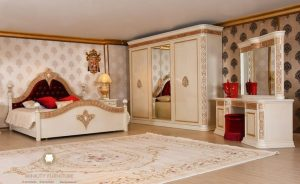 set kamar tidur elegant duco putih turki arabic