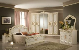 set kamar tidur klasik modern duco putih