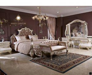 set kamar tidur mewah elegant italia