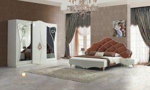 set kamar tidur pengantin duco putih