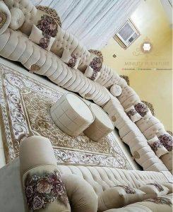 sofa tamu panjang mewah elegant arabic