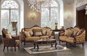 sofa tamu ukir elegant gaya eropa