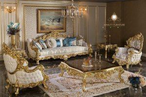 sofa tamu ukir mewah gaya victoria