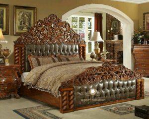 tempat tidur ukir klasik kayu jepara