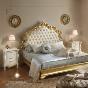 tempat tidur ukir modern italia style
