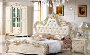 bedroom set duco putih italia style