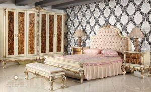 bedroom set mewah putih model terbaru
