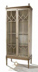 cabinet lemari hias kaca model classic kayu terbaru
