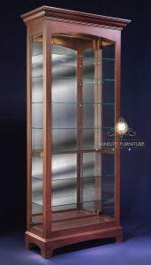 cabinet lemari kaca kayu minimalis jepara