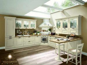kitchen set dapur mewah modern duco putih kayu jepara