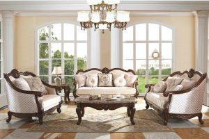 living room sofa classic elegant kayu