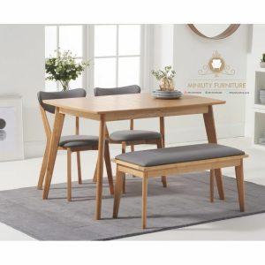 meja makan retro minimalis kayu