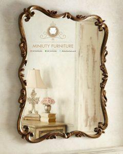 model cermin gantung dinding ukiran kayu jepara model terbaru
