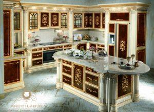 model kitchen set mewah modern kayu terbaru jepara
