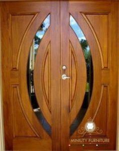 model pintu kupu tarung mewah modern kayu jati terbaru